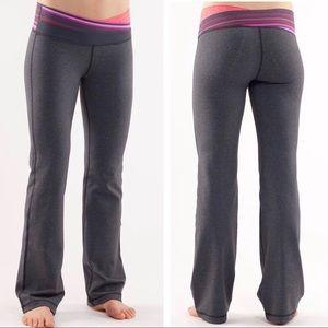 Lululemon Astro Yoga Pant Heathered Coal/Currant 6
